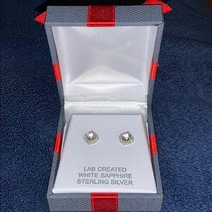 White Sapphire 8mm Studs